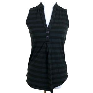 Ella Moss Women's Black Stripped Sleeveless Tank S